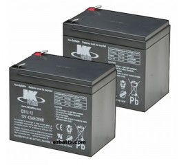 MK Battery ES12-12 SLA AGM Battery (2 Batteries)