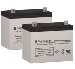 Powersonic PS-12750 U Equivalent Replacement Battery SP12-75