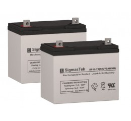 Pride Mobility Jazzy 1170XL Plus Replacement Battery (2 Batteries)