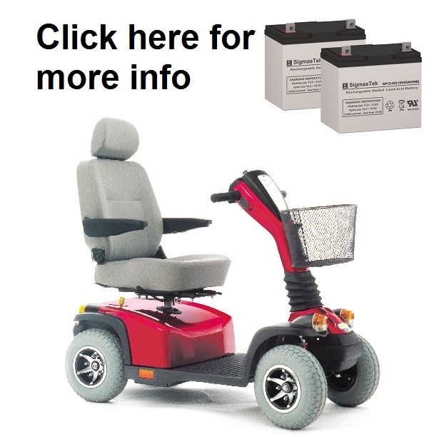 Pride Legend XL Scooter Replacement Battery SP12-55 on