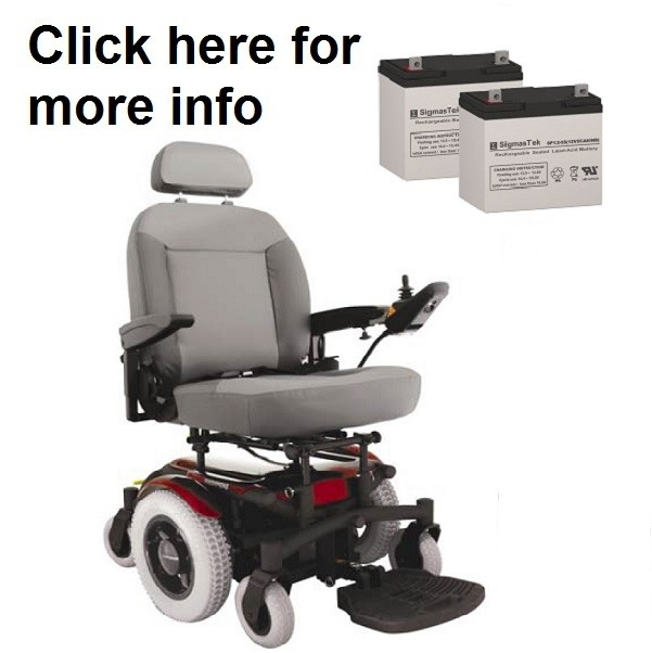 Shoprider 6Runner 14 HD Power Wheelchair Batteries Set Of Two