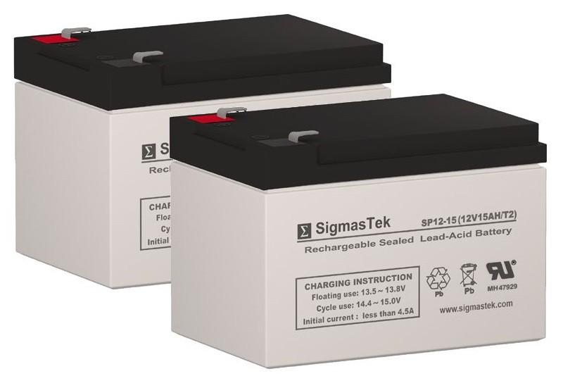 SigmasTek 12 Volt - 15 Amp Hour Batteries