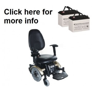 Drive Medical Denali Power Wheelchair Replacement Battery (2 Batteries)