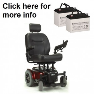 ActiveCare Medalist / P22 Power Wheelchair Replacement Battery (2 Batteries)