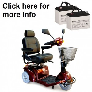 ActiveCare Pilot 2310 and 2410 Scooter Replacement Battery (2 Batteries)