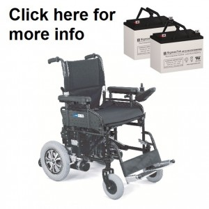 ActiveCare Wildcat Power Wheelchair Replacement Battery (2 Batteries)