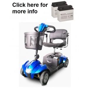 EV Rider CityCruzer Scooter Battery (2 Batteries)
