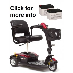 Pride Mobility Go-Go LX with CTS Replacement Battery (2 Batteries)