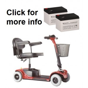 Pride Mobility Go-Go Scooter Replacement Battery (2 Batteries)