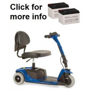 Pride Mobility Go-Go Ultra Scooter Replacement Battery (2 Batteries)