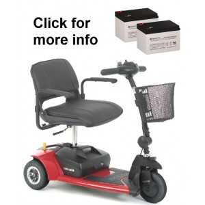 Pride Mobility Go-Go Ultra X Scooter Replacement Battery (2 Batteries)