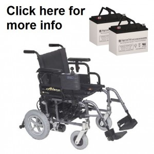 Golden Alero Folding Power Wheelchair Replacement Battery (2 Batteries)