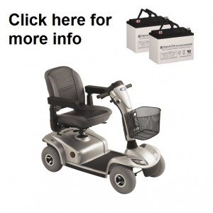 Invacare Leo Scooter Replacement Battery (2 Batteries)