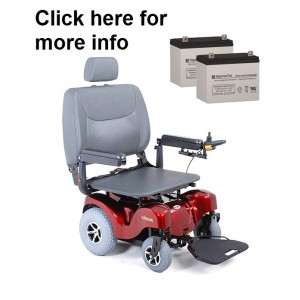 Merits Atlantis 2 Powerchair Replacement Battery (2 Batteries)