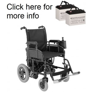 Merits P171 Power Wheelchair Replacement Battery (2 Batteries)