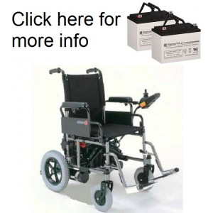 Merits P107 Power Wheelchair Replacement Battery (2 Batteries)
