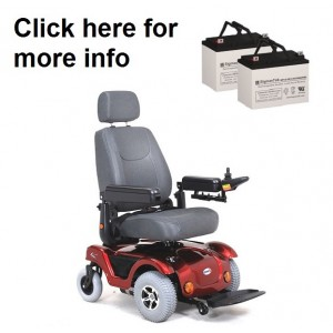 Merits P312 Power Wheelchair Replacement Battery (2 Batteries)