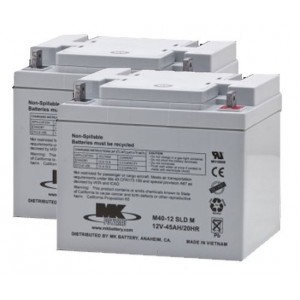 MK M40-12 SLD M AGM Battery (2 Batteries)