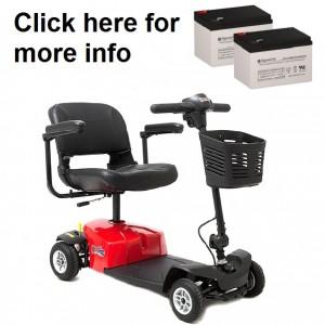 Mega Motion Rascal 4 Scooter Battery (2 Batteries)