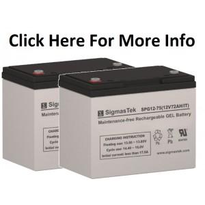 SigmasTek SPG12-75 IT 12V-72Ah Gel Battery (2 Batteries)