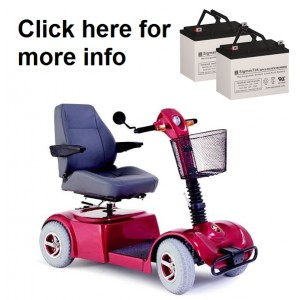 Pride Mobility Boxster Scooter Replacement Battery (2 Batteries)