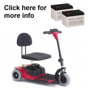 Pride Mobility Dash Scooter Replacement Battery (2 Batteries)