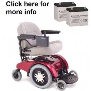 Pride Mobility Jet 10 Wheelchair Replacement Battery (2 Batteries)