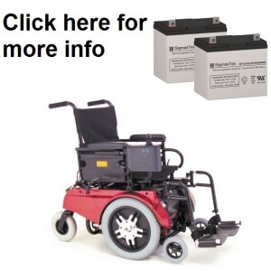 Pride Mobility Jet 12 Wheelchair Replacement Battery (2 Batteries)