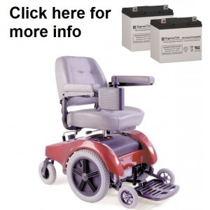 Pride Mobility Jet 1-ATS Wheelchair Replacement Battery (2 Batteries)