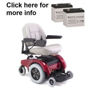 Pride Mobility Jet 1-HD Wheelchair Replacement Battery (2 Batteries)