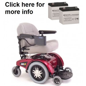 Pride Mobility Jet 2 Wheelchair Replacement Battery (2 Batteries)