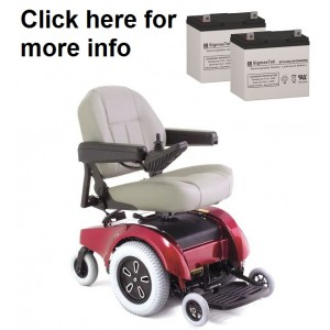 Pride Mobility Jet 2-HD Wheelchair Replacement Battery (2 Batteries)