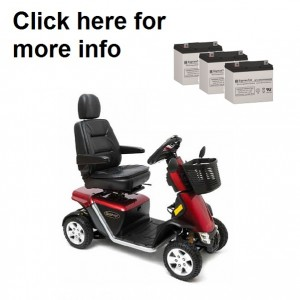Pride Mobility Pursuit Sport 36V Battery (3 Batteries)