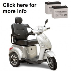 Pride Mobility Raptor Scooter Replacement Battery (2 Batteries)