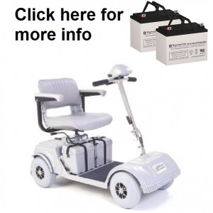 Pride Mobility Shuttle 3 or 4 Wheel Replacement Battery (2 Batteries)