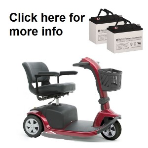 Pride Mobility V10 Mobility Scooter Replacement Battery (2 Batteries)