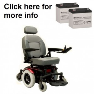 Quickie Aspire Full Power Wheelchair Replacement Battery (2 Batteries)