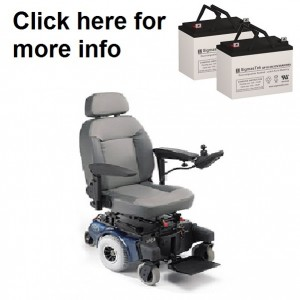 Quickie Aspire Mini / M11 Power Wheelchair Replacement Battery (2 Batteries)