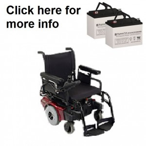 Quickie Freestyle Mini Power Wheelchair Replacement Battery (2 Batteries)