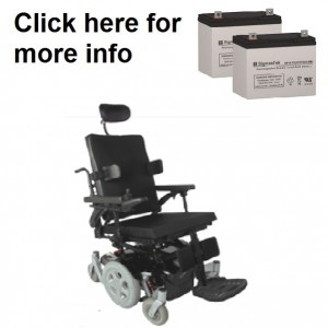 Quickie P-210 Power Wheelchair Replacement Battery (2 Batteries)