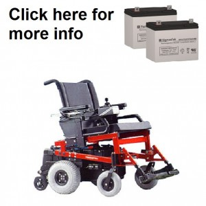 Quickie P-200 Power Wheelchair Replacement Battery (2 Batteries)