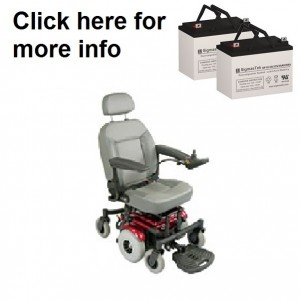 Quickie S-11 Power Wheelchair Replacement Battery (2 Batteries)