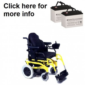 Quickie S-525 Power Wheelchair Replacement Battery (2 Batteries)