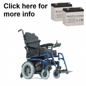 Quickie S-646 Power Wheelchair Replacement Battery (2 Batteries)