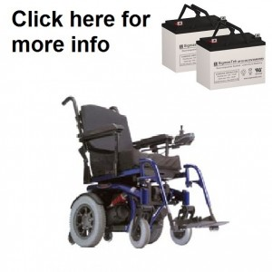Quickie V-100 Power Wheelchair Replacement Battery (2 Batteries)