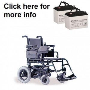 Quickie V-121 Power Wheelchair Replacement Battery (2 Batteries)