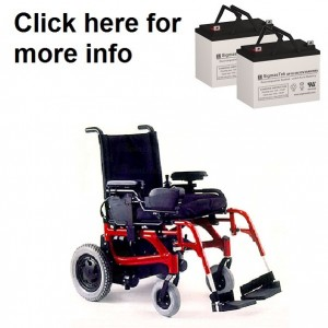 Quickie V-521 Power Wheelchair Replacement Battery (2 Batteries)
