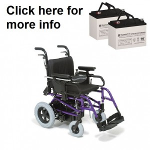 Quickie Z-500 Pediatric Power Wheelchair Replacement Battery (2 Batteries)