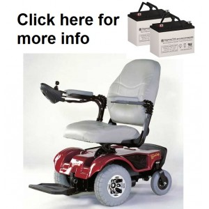Rascal 312 Turnabout Wheelchair Battery 2 Batteries