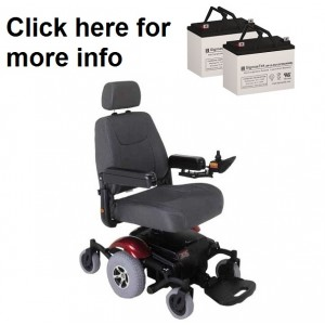 Rascal 326A Power Wheelchair Battery (2 Batteries)